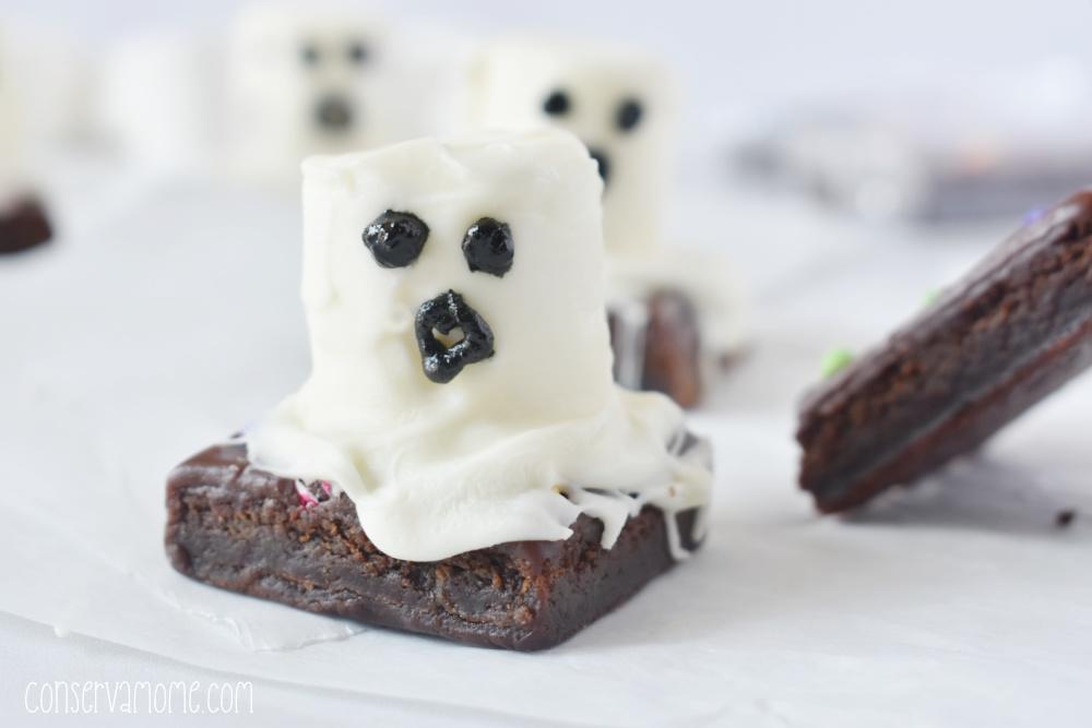 Easy Ghost Brownies Recipe: Spooky Halloween Treats