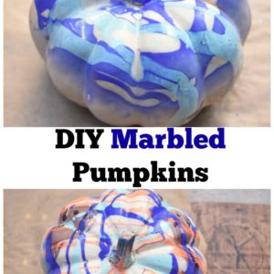 DIY Marbled Pumpkins : Fall Pumpkin Painting