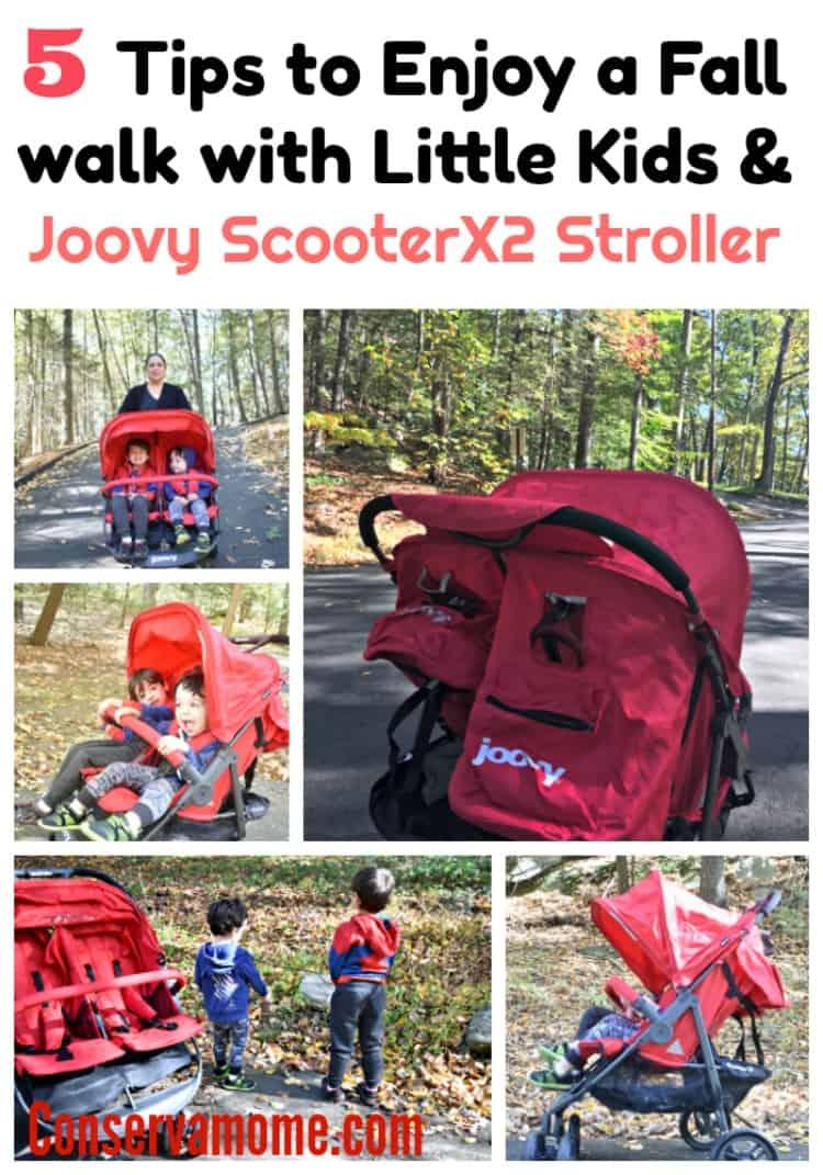 5 Tips to Enjoy a Fall walk with Little Kids & Joovy ScooterX2 Stroller