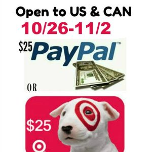 $25 Pick Your Prize Giveaway ends 11/2