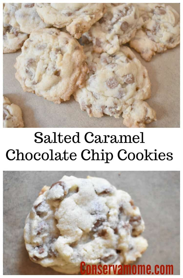 These delicious Salted Caramel Chocolate Chip Cookies are going to be a hit in your home. They're so delicious and full of so many amazing flavors you won't be able to have just one.