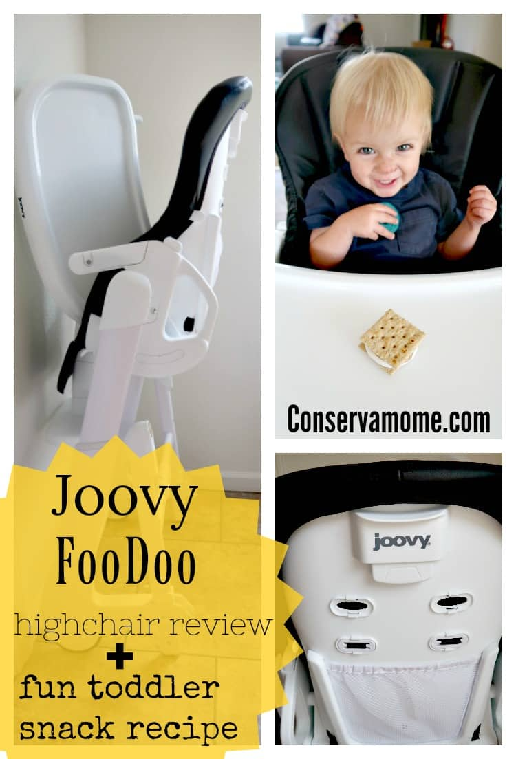 Find out why the Joovy FooDoo highchair has become a favorite in our home and Check out a fun toddler snack recipe..I received the Joovy FooDoo for free in exchange for my honest review. All opinions are entirely my own.