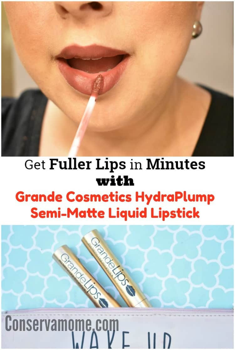 "Find out how to Get fuller Lips in minutes with Grande Cosmetics ""GrandeLIPS Hydraplump Semi-Matte Liquid Lipstick"