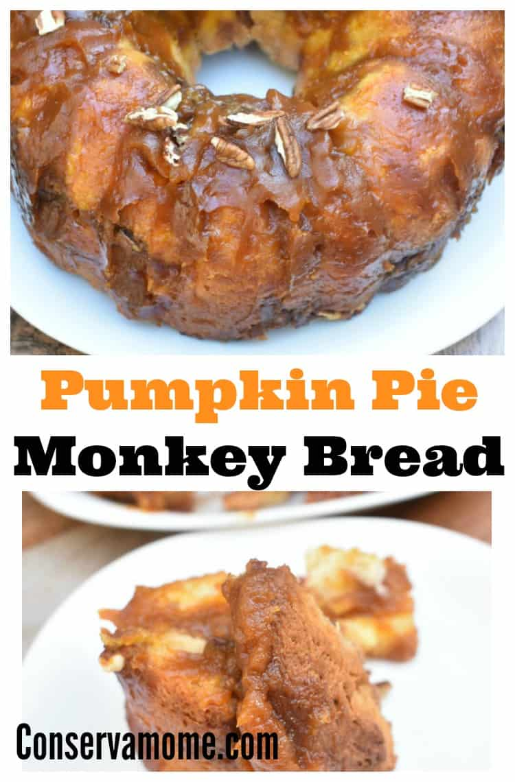 This delicious Pumpkin Pie Monkey Bread recipe is the perfect addition to any delicious Fall breakfast or brunch.