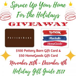Spruce up your Home $150 Gift Card Giveaway ends 12/4