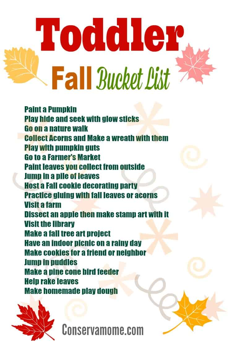 Just because the weather is cooler doesn't mean it's time to head indoors. There's still fun to be had! Check out Ideas for Fall Fun with a Toddler.