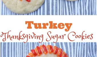 Turkey Thanksgiving Sugar Cookies