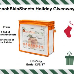 PeachSkin Sheets Holiday Giveaway ends 12/3