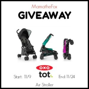 OXO tot Air Stroller Giveaway ends 11/24