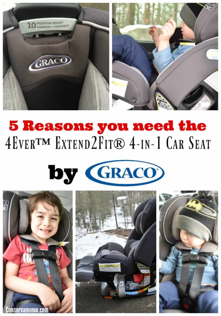 The 4Ever™ Extend2Fit® 4-in-1 Car Seat by Graco is a must have for parents. This car seat will grow with your baby from birth+. Check out 5 reasons you need this car seat in your life!