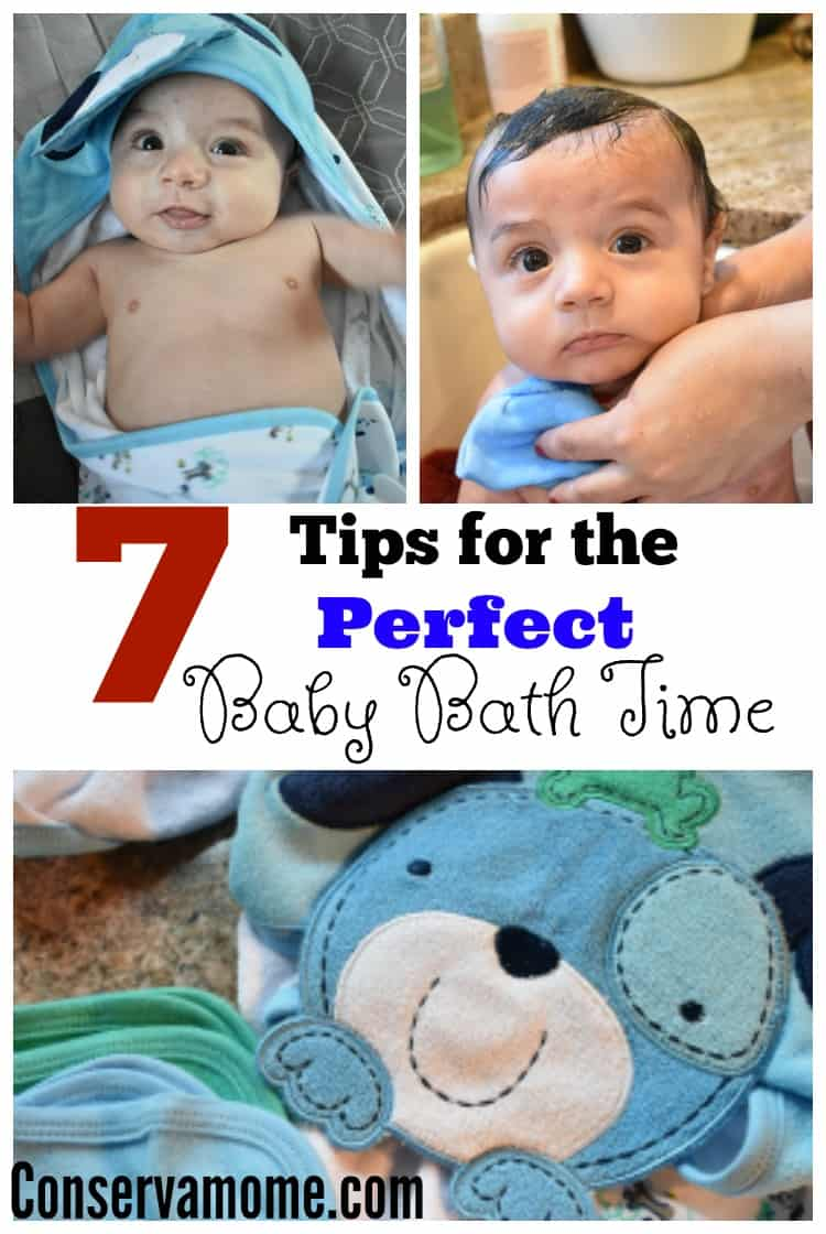 Baby Bath time doesn't have to be stressful. Check out these 7 Tips for the Perfect Baby Bath Time to help make it a fun experience for all.
