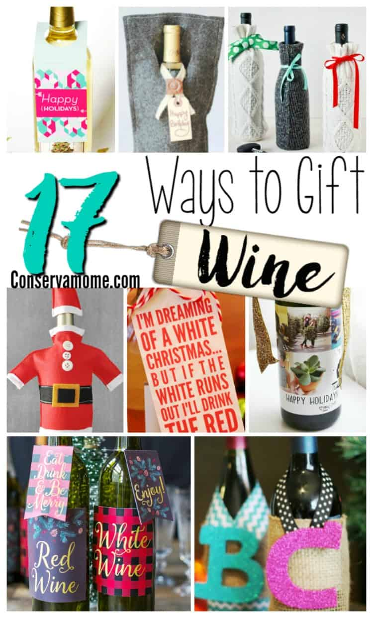 Check out these 17 fun ways to gift wine. Perfect as a Holiday gift or fun Holiday Party!