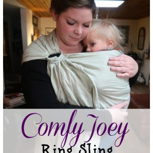 Comfy Joey Ring Sling Review+ Giveaway
