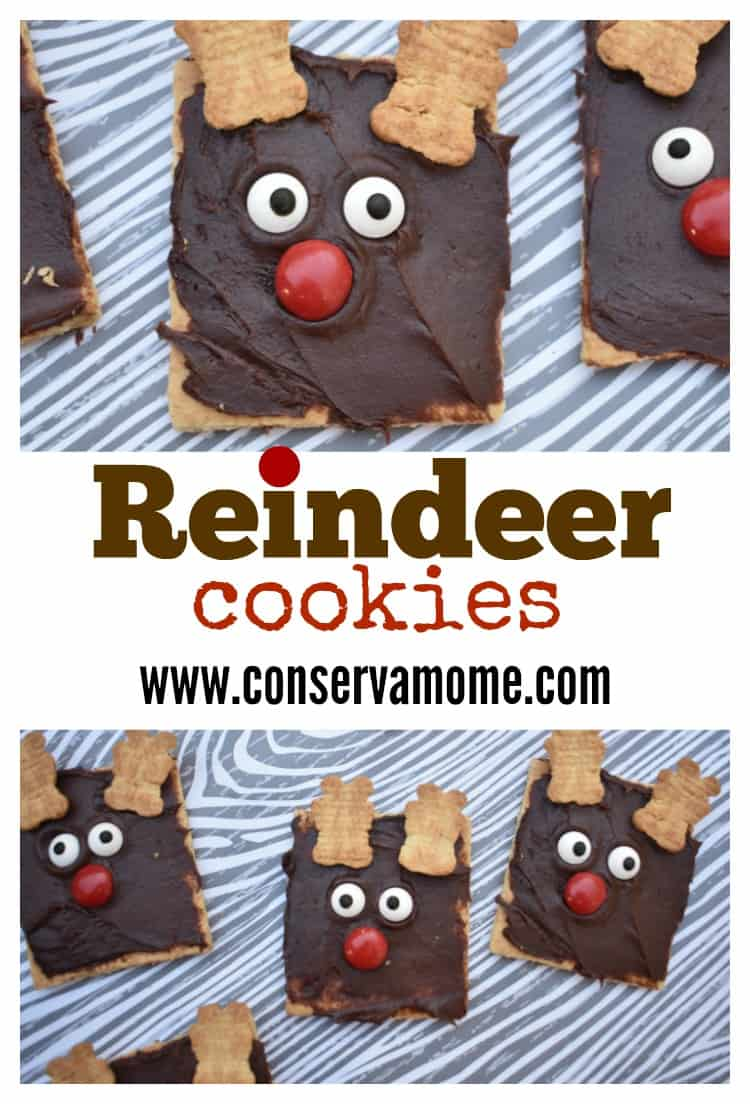 These Reindeer Cookies will be the perfect addition to a Jolly Good Holiday Time! Crazy easy to assemble making them the perfect Adorable & Fun Christmas Kid Craft Treat!