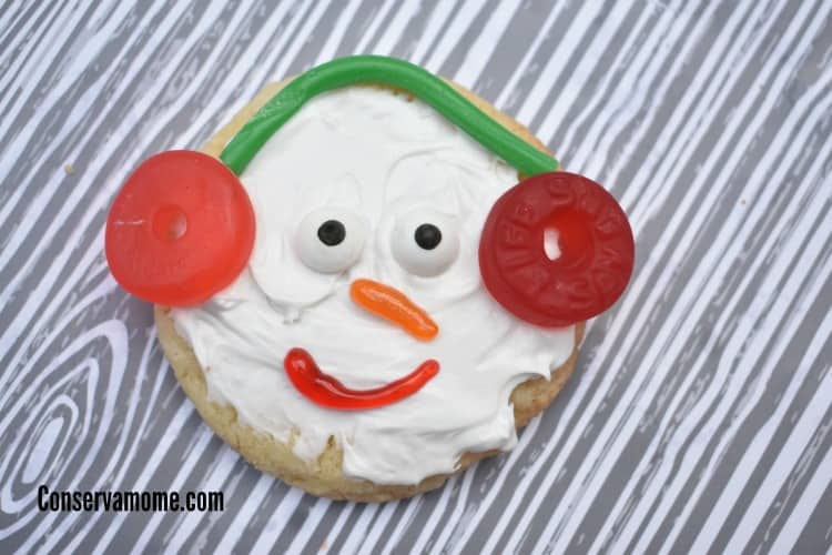 Snow man cookies