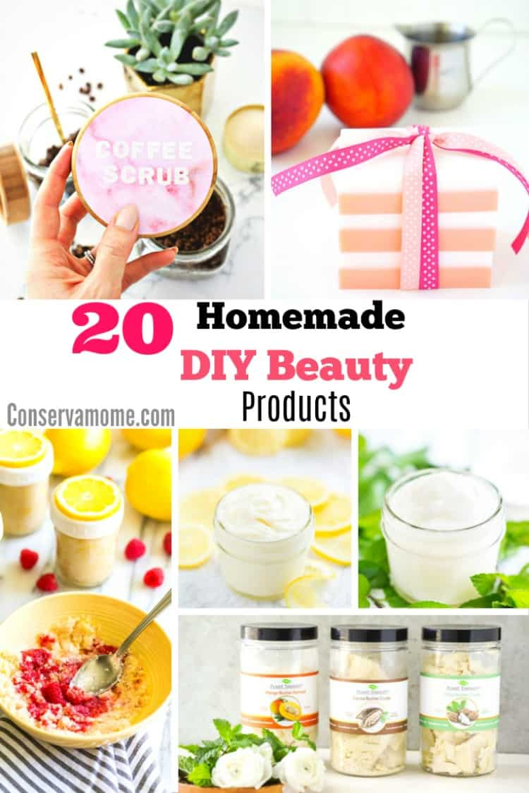 You won't have to search high or low for these DIY Beauty Products, many ingredients will be found easily in your Kitchen Cabinet. Check out this round up of 20 Homemade DIY Beauty Products.