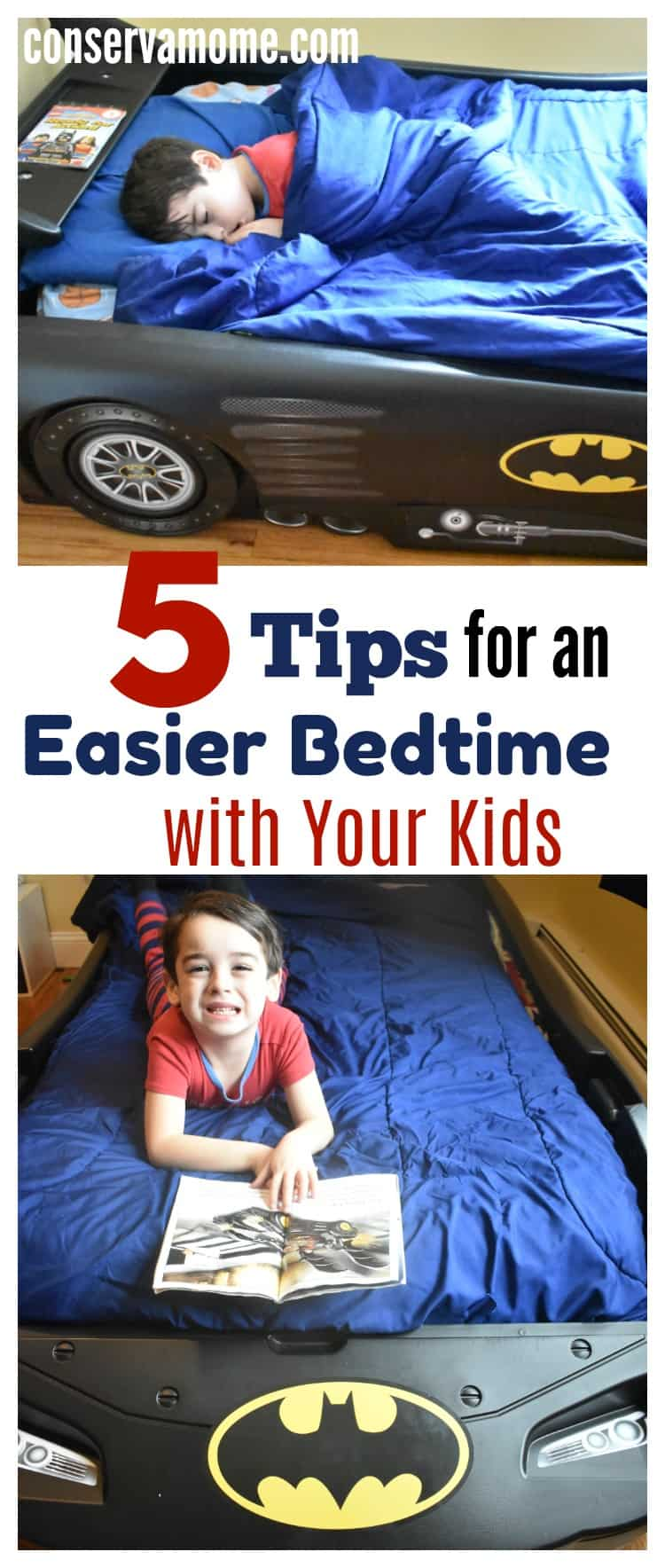 Bedtime can be tough on everyone.Check out 5 Tips for an Easier Bedtime with your Kids so that everyone gets the best night sleep.