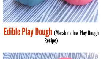 Edible Play dough -Marshmallow Play dough Recipe