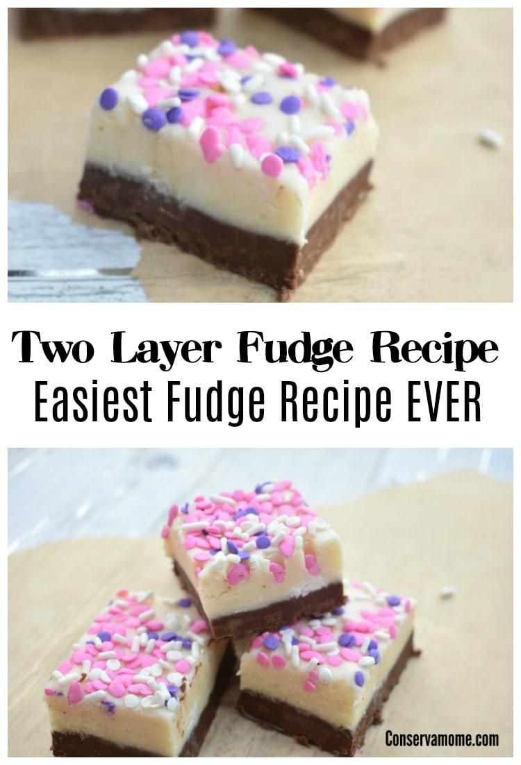 Two layer fudge recipe