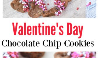 Valentine's Day Chocolate Chip Cookies – Heart Shaped Cookie Deliciousness!