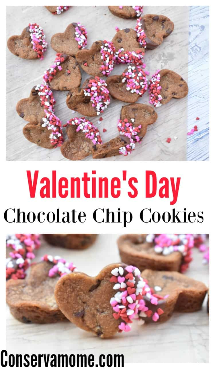 These delicious heart shape cookie treats are the perfect way to show some love! Check out this easy Valentine's Day Chocolate Chip Cookies recipe!