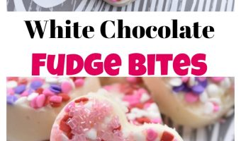 White Chocolate Fudge bites – A fun Valentine's Day Treat