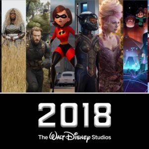 2018 Walt Disney Studios Movie Line up!