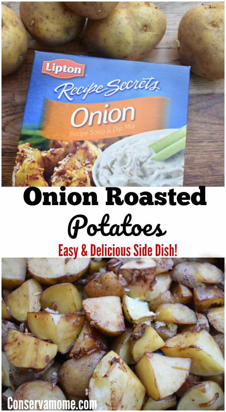 This Onion Roasted Potatoes recipe is the perfect Easy & Delicious Side dish to make your Dinner even better. Check out how easy it is to make below!
