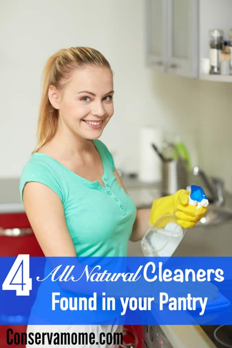 4 All Natural Cleaners Found Right in your Pantry