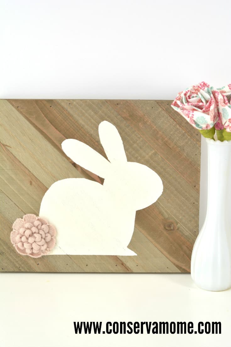 This fun Wooden Bunny Silhouette is a perfect and easy Easter Decoration. Easy to make and so fun to show off. Personalize it and get creative with this fun creation!