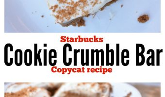 Starbucks Cookie Crumble Bar Copycat Recipe – Speculoos Cookie bars