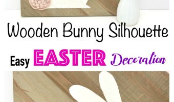 Wooden Bunny Silhouette Decoration – Easy Easter Decoration