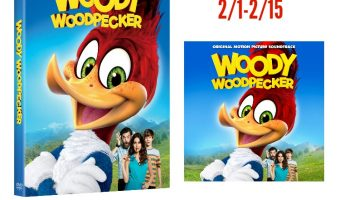 WOODY WOODPECKER DVD+ Digital & Sound Track Giveaway ends 2/15 !