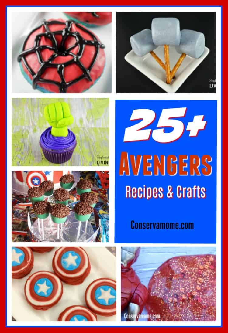 Do you love the Avengers? Here's a fun round up of Avengers Recipes & crafts perfect for any party, movie viewing party or just for fun!