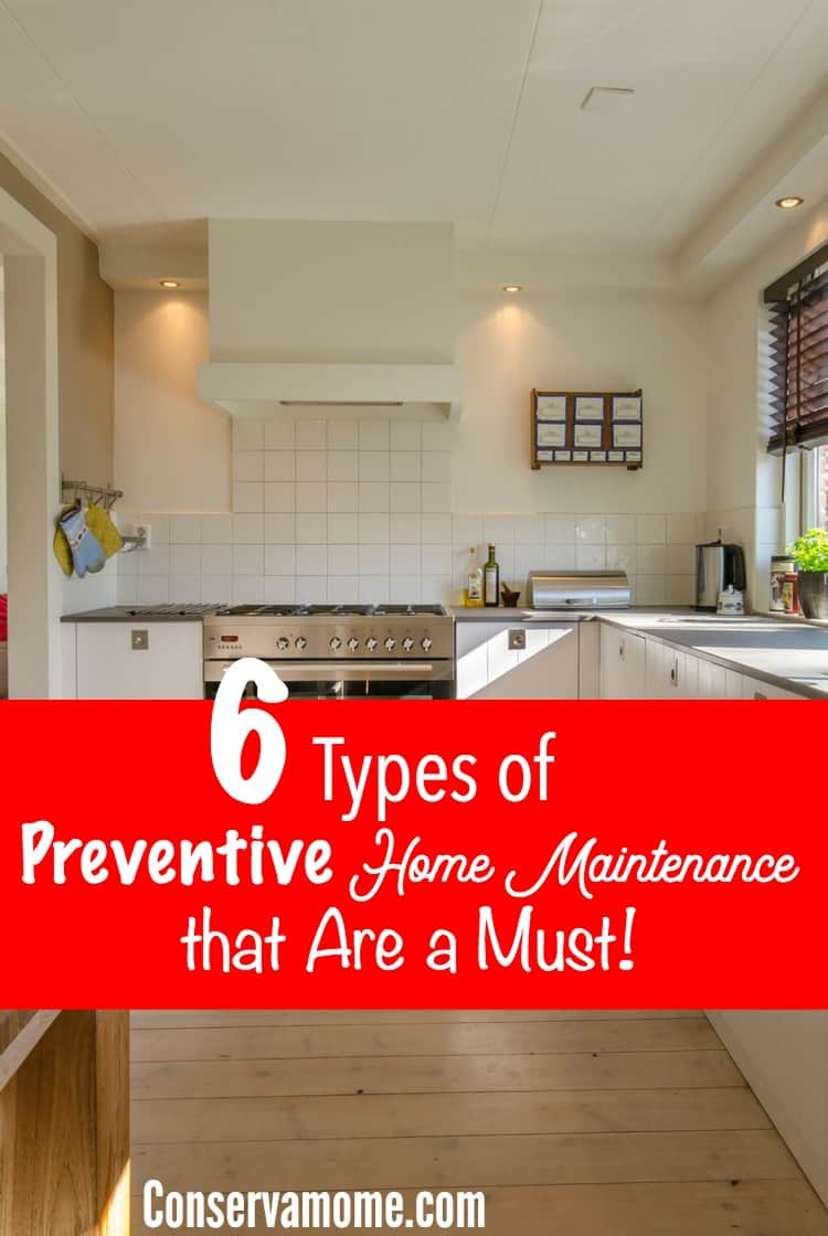 Keeping up with home maintenance is a must, the little things will catch up if you don't. Here's a list of 6 Types of Preventive Home Maintenance that are a Must.