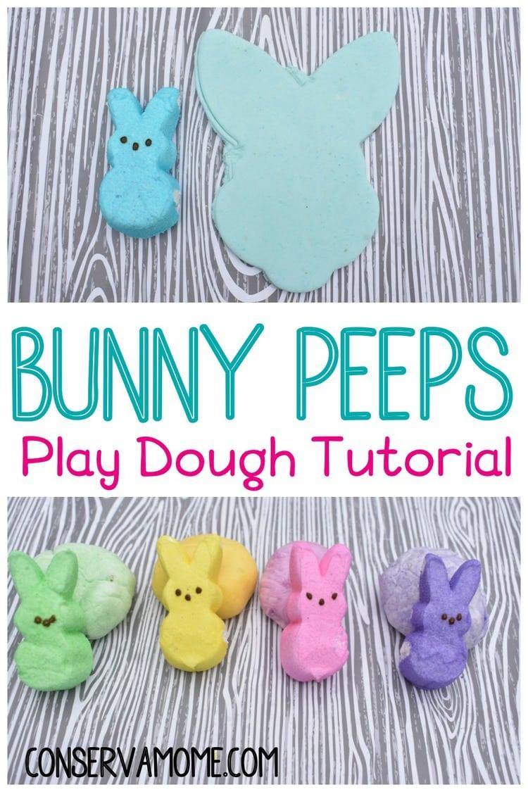 Bunny Peeps Play dough tutorial