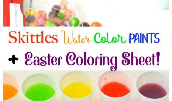 Skittles Water Color Paints + Easter Coloring Sheet!