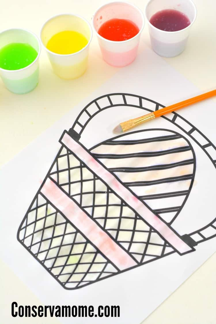 Let the kids enjoy dipping their paint brushes into the various colors print out the free easter coloring sheet to let them have a little holiday fun too