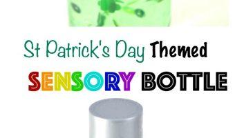 St.Patrick's Day Themed Sensory Bottle Tutorial