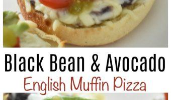 Bays Pizza Genius Giveaway + Black Bean & Avocado English Muffin Pizza Recipe !