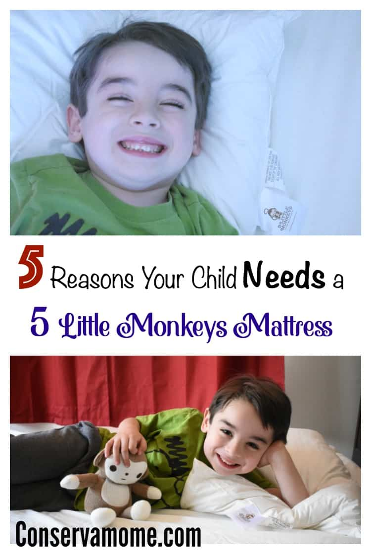Children who don't get a good nights sleep suffer from many issues that will keep them from reaching their potential. Find out 5 Reasons Your Child Needs a 5 Little Monkeys Mattress to help achieve a good night's rest!