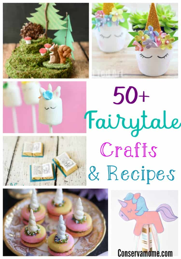 Check out a fun round up of 50+Fairytale Crafts & Recipes that are both magical and fun! Perfect for a party, afternoon or just because!