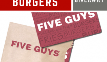 Five Guys Burgers $25 Gift Card Giveaway ends 5/4