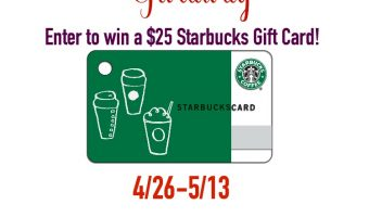 $25 Starbucks Spring Coffee Fun Gift Card Giveaway ends 5/13