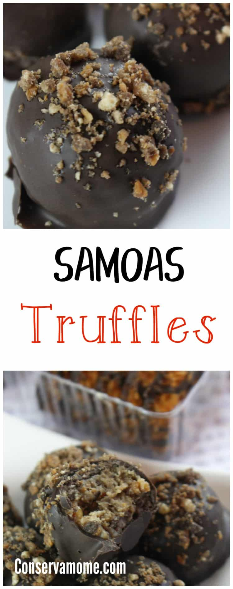 Do you love Samoas Girl scout cookies? Here's a fun recipe to make using those delicious popular girl scout cookies, Samoas Truffles!