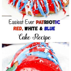 Easiest Ever Patriotic Red, White & Blue Cake Recipe