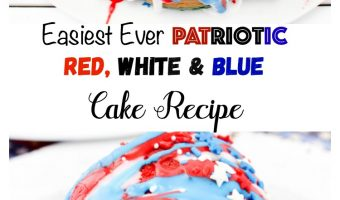 Easiest Ever Patriotic Red, White & Blue Cake Recipe
