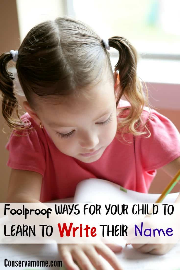 Do you have a little one starting Kindergarten soon? Get them a step ahead with Foolproof Ways for Your Child to Learn to Write Their Name.