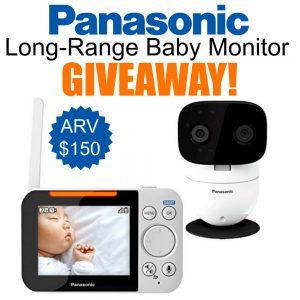 Panasonic Long-Range Baby Monitor Giveaway ends 5/25