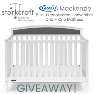 Graco Mackenzie 5-in-1 Upholstered Convertible Crib Giveaway ends 5/30